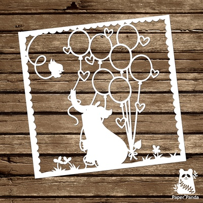 Paper panda are creating artwork downloads and smiles patreon youll get the new surprise papercut diy template previously mentioned that also includes a commercial license to sell them through your own business maxwellsz