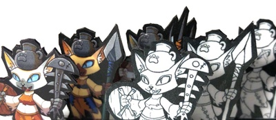 Trash Mob Minis is creating Paper Miniatures | Patreon