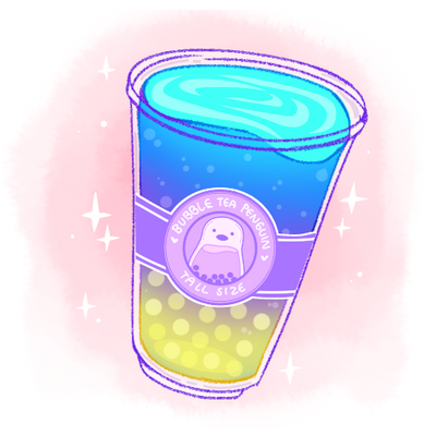 Bubble Tea Penguin Is Creating Cute Art Stickers Charms And More Patreon