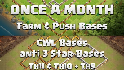 ClashWithEd is creating Amazing Push & War Base layouts + Attack