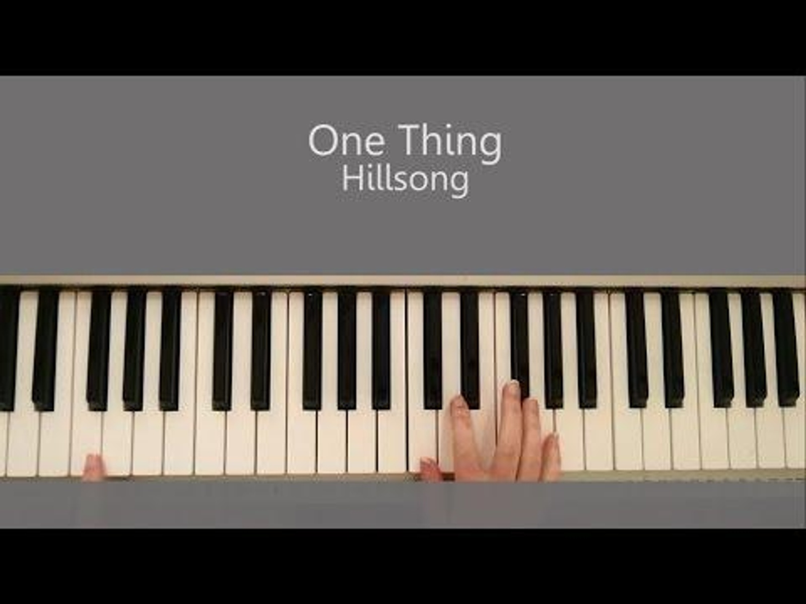 One thing hillsong piano tutorial and chords nina nevski on one thing hillsong piano tutorial and chords hexwebz Images