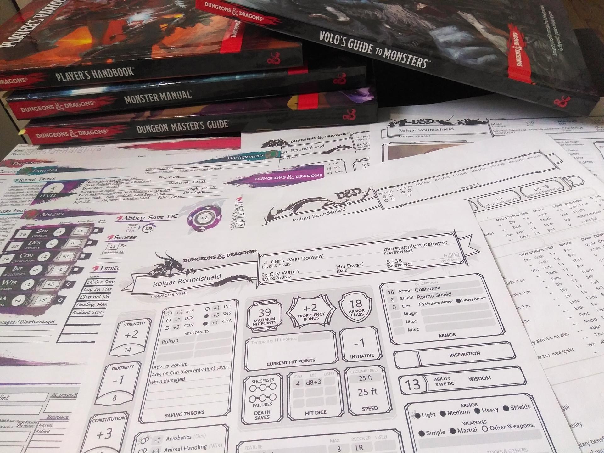 MorePurpleMoreBetter is creating DnD character sheets | Patreon